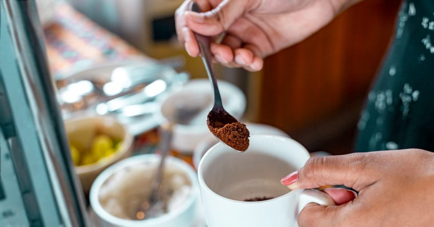 Preparation of healthy coffee
